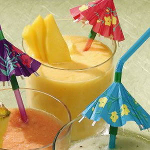 Silky mango cream.